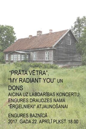 """Labdarības koncerts Engures evanģēliski luteriskās baznīcas draudzes nama """"Ērģelnieki"""" atjaunošanai"""