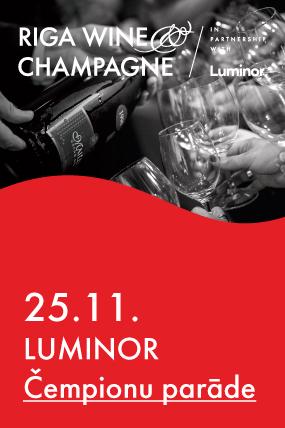 Luminor Čempionu parāde jeb Gada vīns Top 100 vīnu degustācija