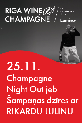 Champagne Night Out jeb Šampaņas dzīres ar Rikardu Julinu