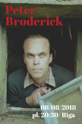 Peter Broderik koncerts Rīgā 2018
