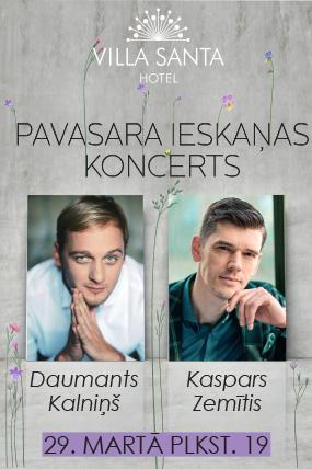 Pavasara ieskaņas koncerts ar Daumantu Kalniņu un Kasparu Zemīti