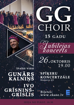 GG Choir 15 gadu jubilejas koncerts